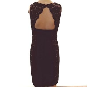 Aidan mattox | Lace frame back cutout dress